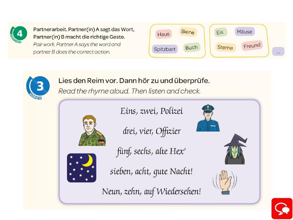 Eins Zwei Polizei Drei Vier Offizier Text   Exemple de Texte