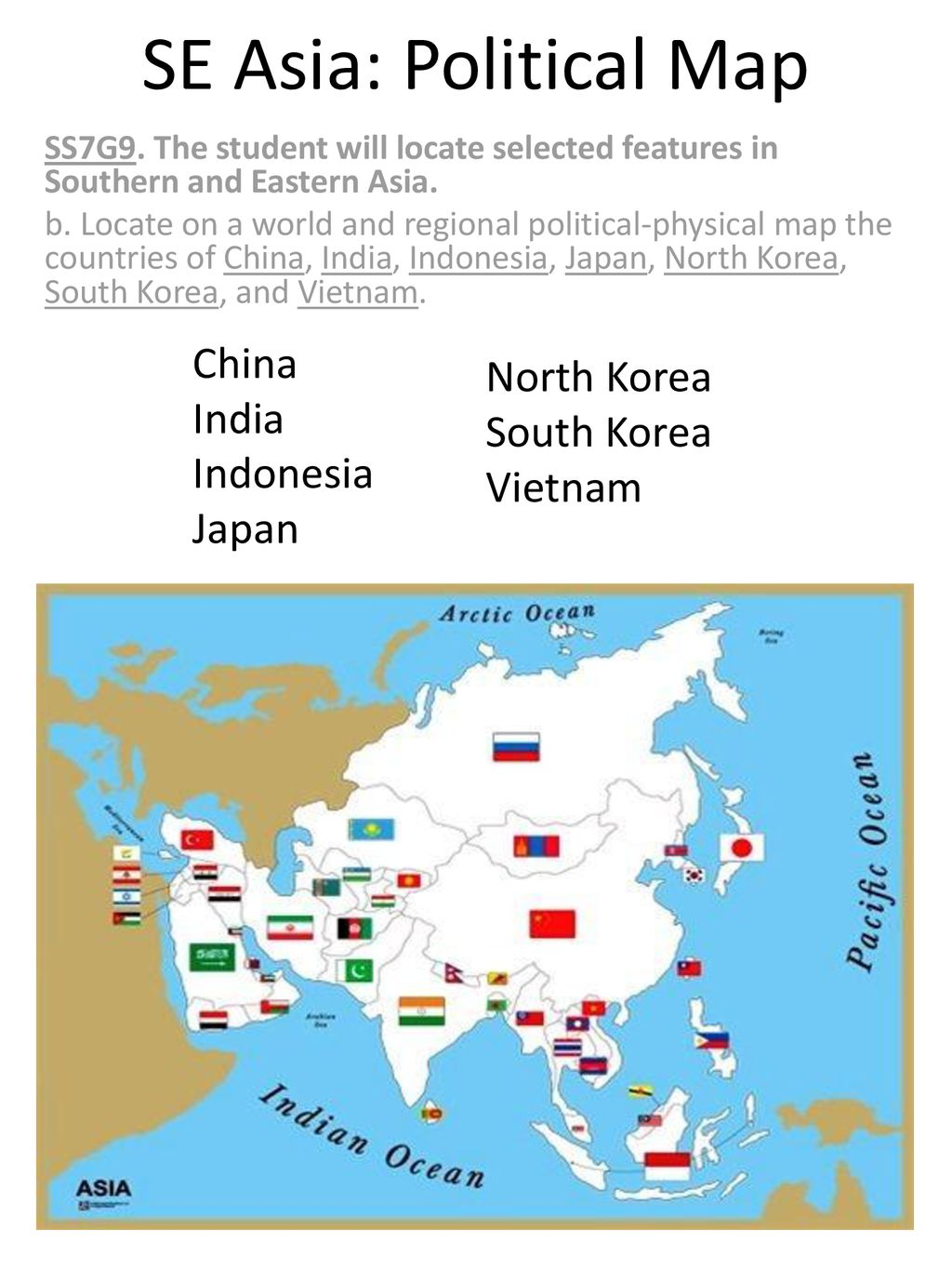 SE Asia: Physical Map DIRECTIONS: - ppt download