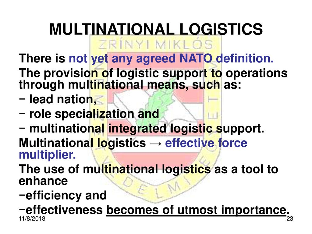 LOGISTICS SUPPORT TO NATO OPERATION - ppt download