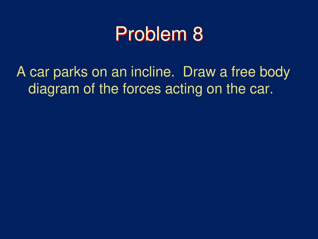 Forces And Free Body Diagrams Ppt Download Diagram Is A Picture Showing The That Act On Draw Of Acting Car