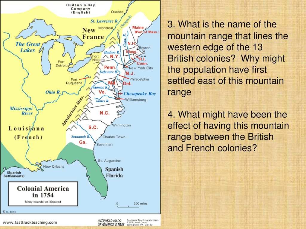 Focus Question: What did the American colonies have in ...