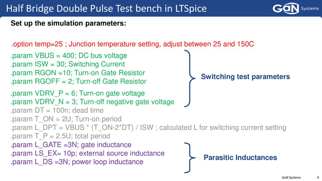 GaN Switching Loss Simulation using LTSpice - ppt download