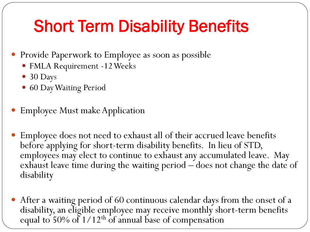 Apply For Temporary Disability