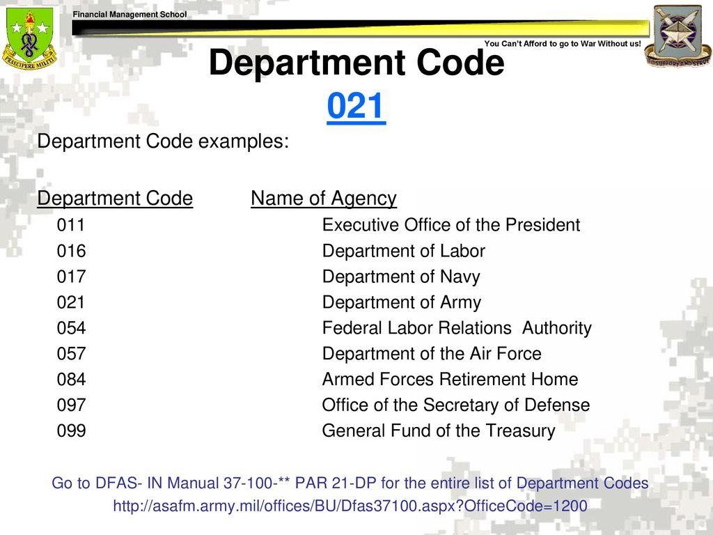 10 Department ...