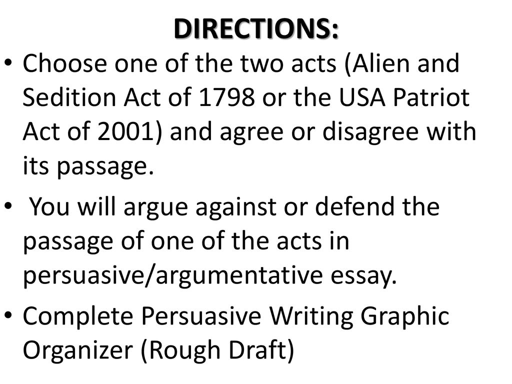 alien and sedition acts essay
