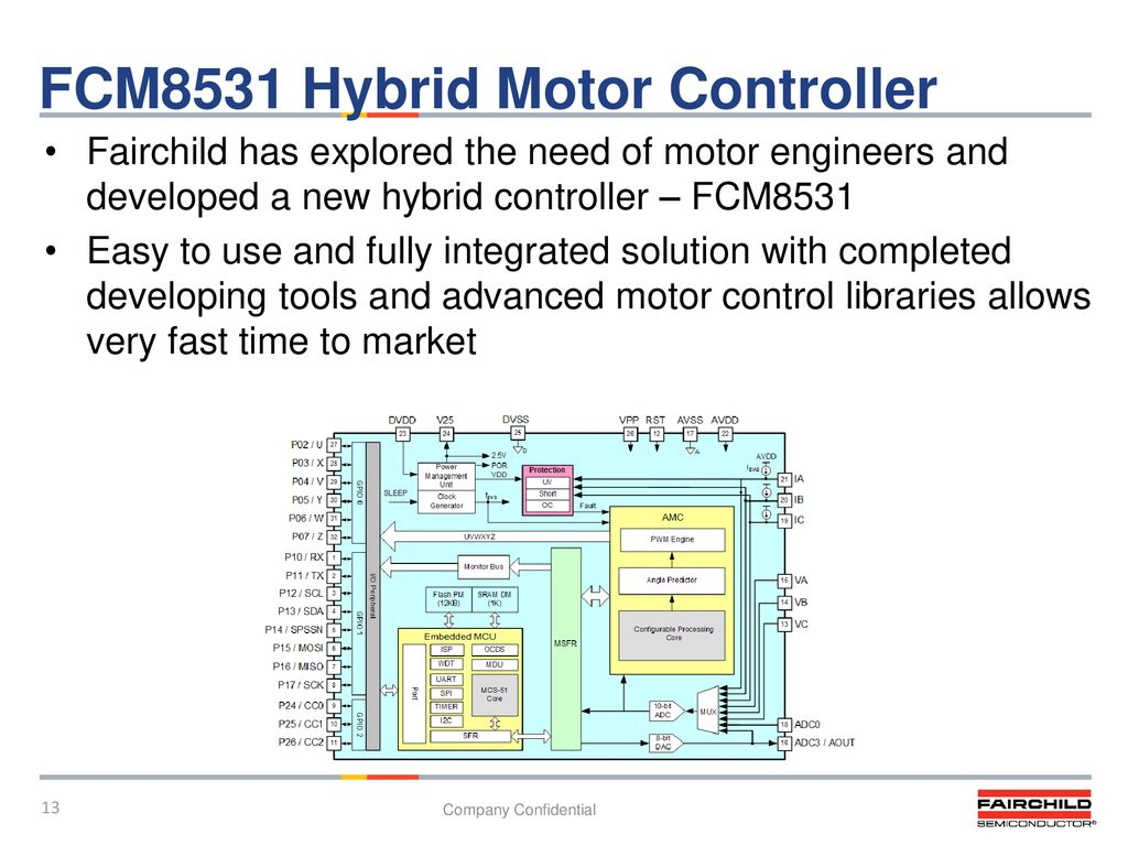 Application Circuit For Fairchild Fcm8201 Bldc Motor Controller