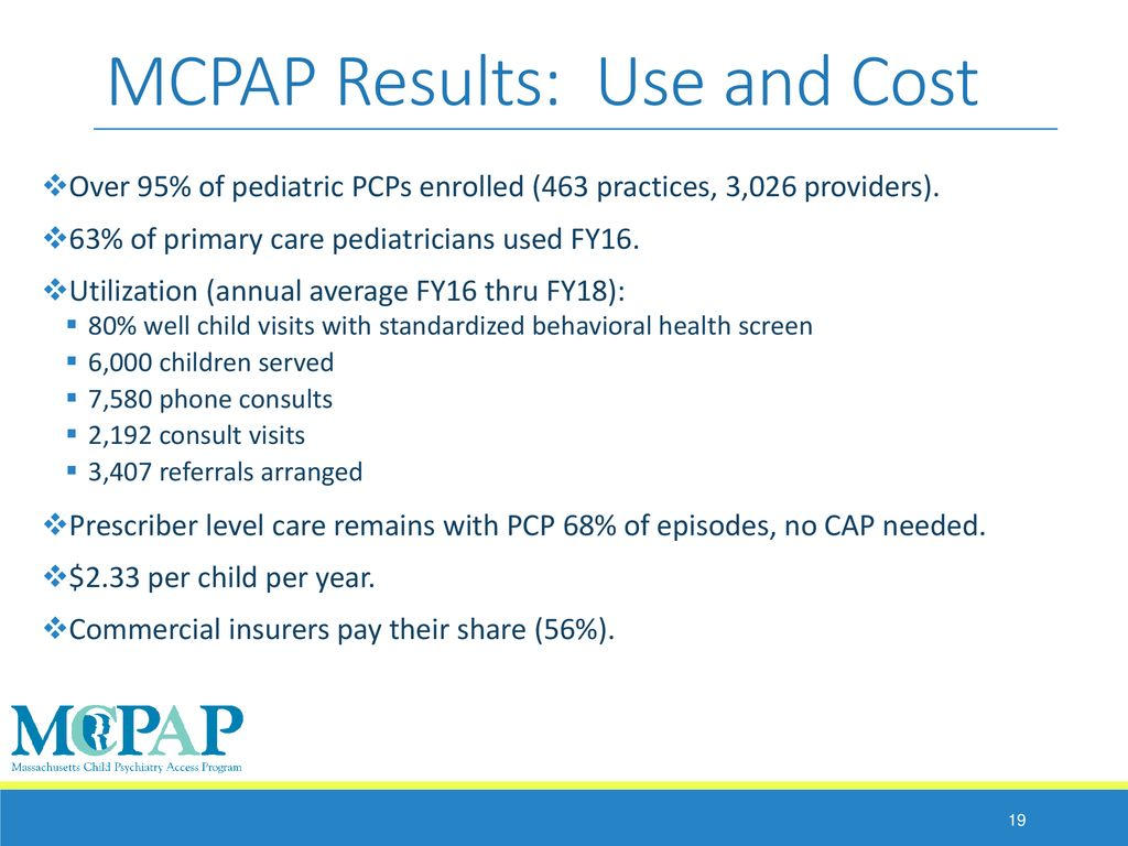 Massachusetts Child Psychiatry Access Programs - ppt download