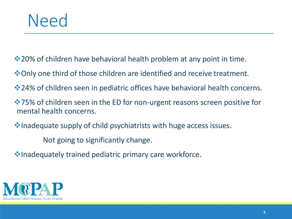 Massachusetts Child Psychiatry Access Programs Ppt Download