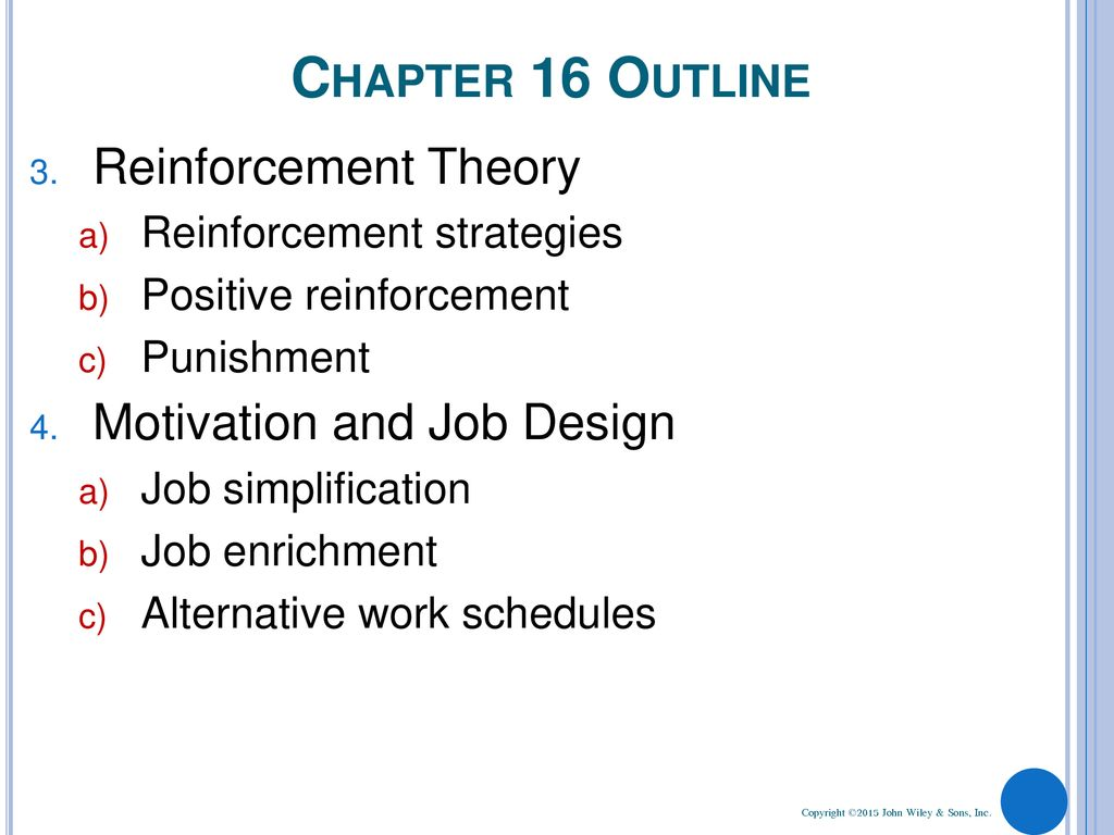 reinforcement theory of motivation