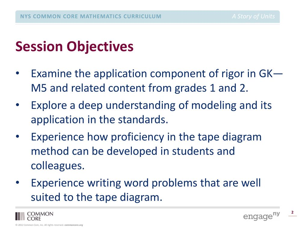 Rigor Breakdown – Application for Grades PK–2 - ppt download