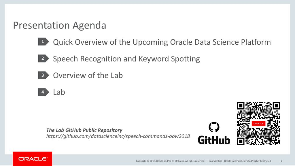 OpenWorld 2018 Audio Recognition Using Oracle Data Science Platform