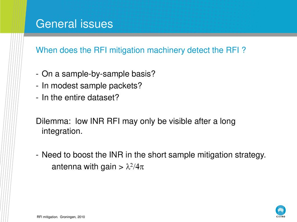 RFI Mitigation Techniques for RadioAstronomy - ppt download