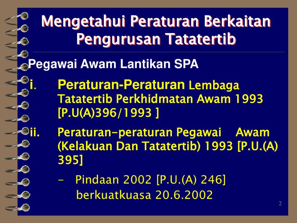 Pengendalian Tatatertib Anggota Perkhidmatan Awam Ppt Download