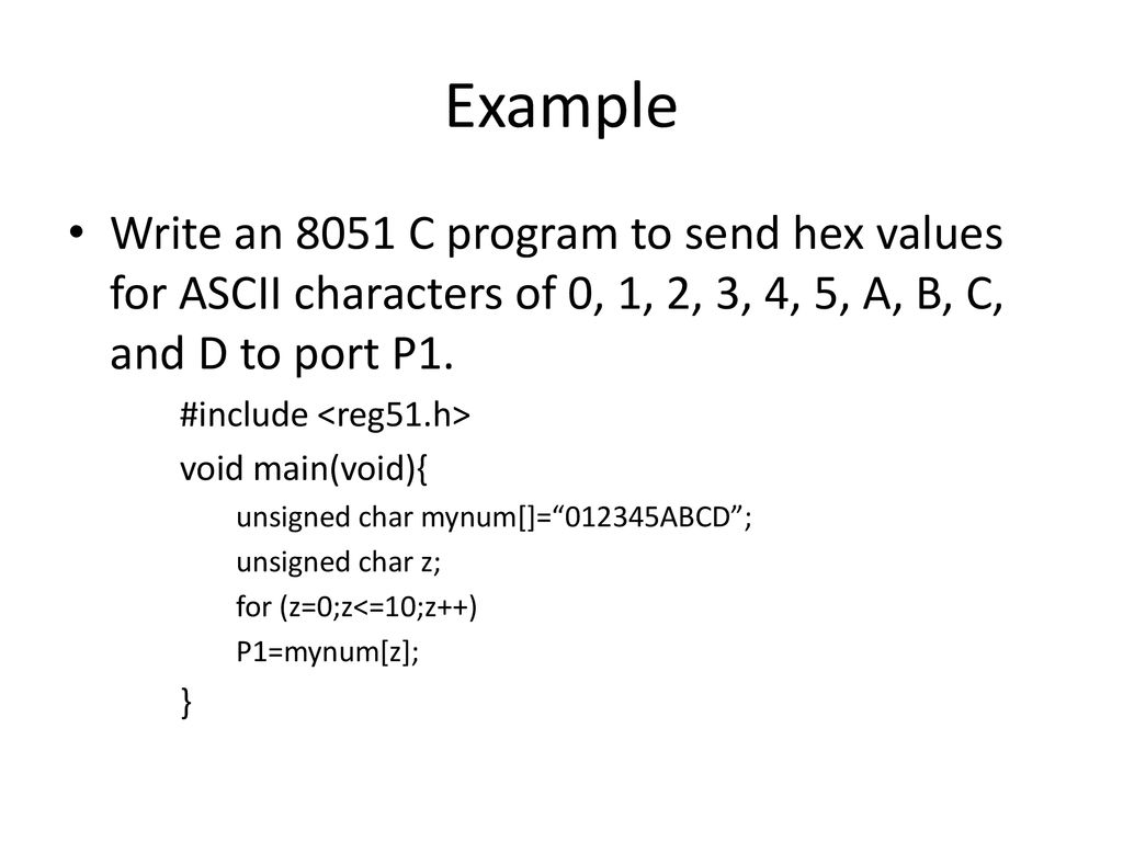8051 Programming in C rhussin  - ppt download