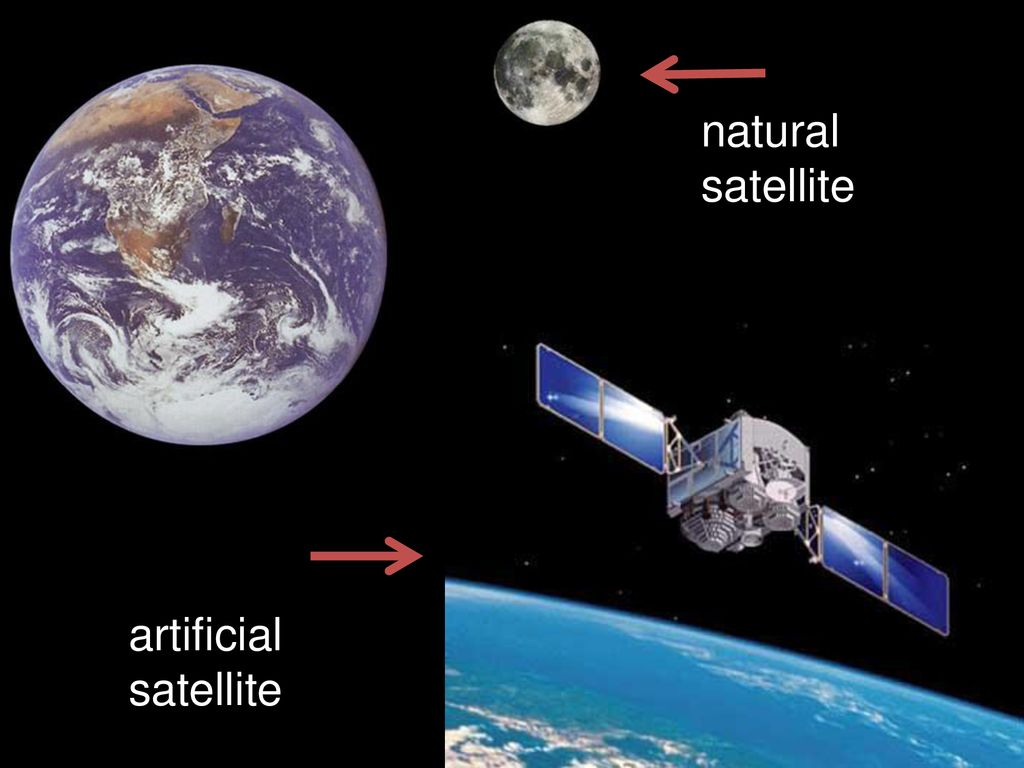 Image result for images of artificial satellite and natural satellite