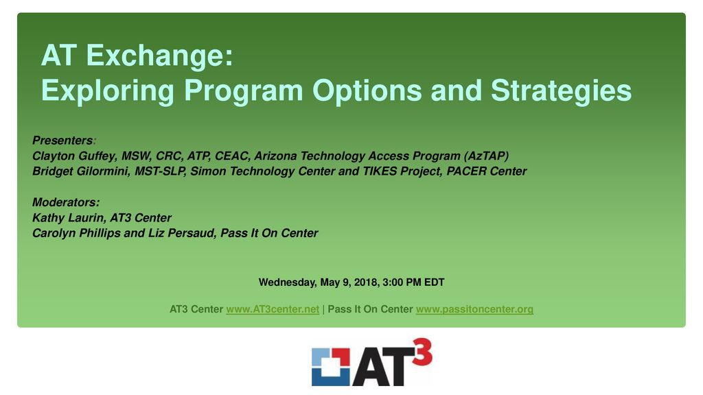 AT Exchange: Exploring Program Options and Strategies - ppt download