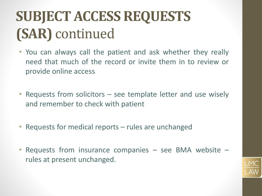 subject access requests sar continued
