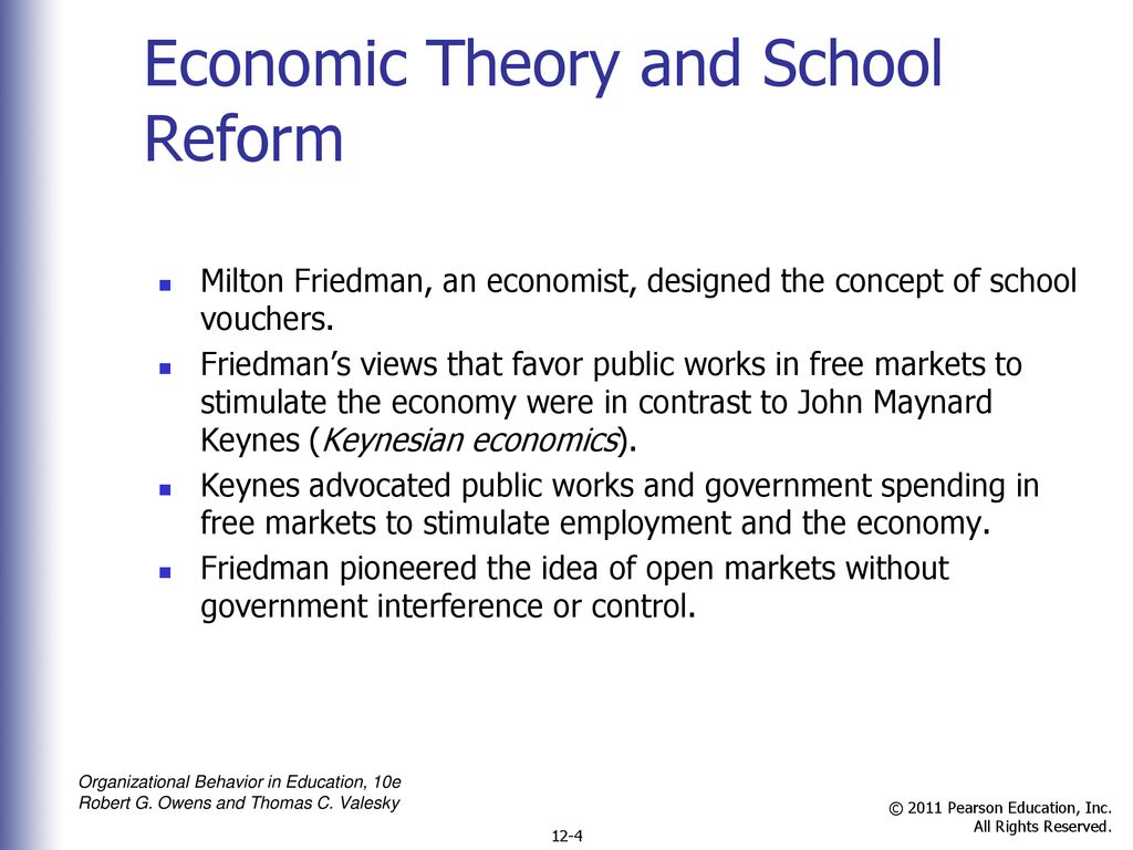 Free Market For Education Economists >> School Reform Ppt Download