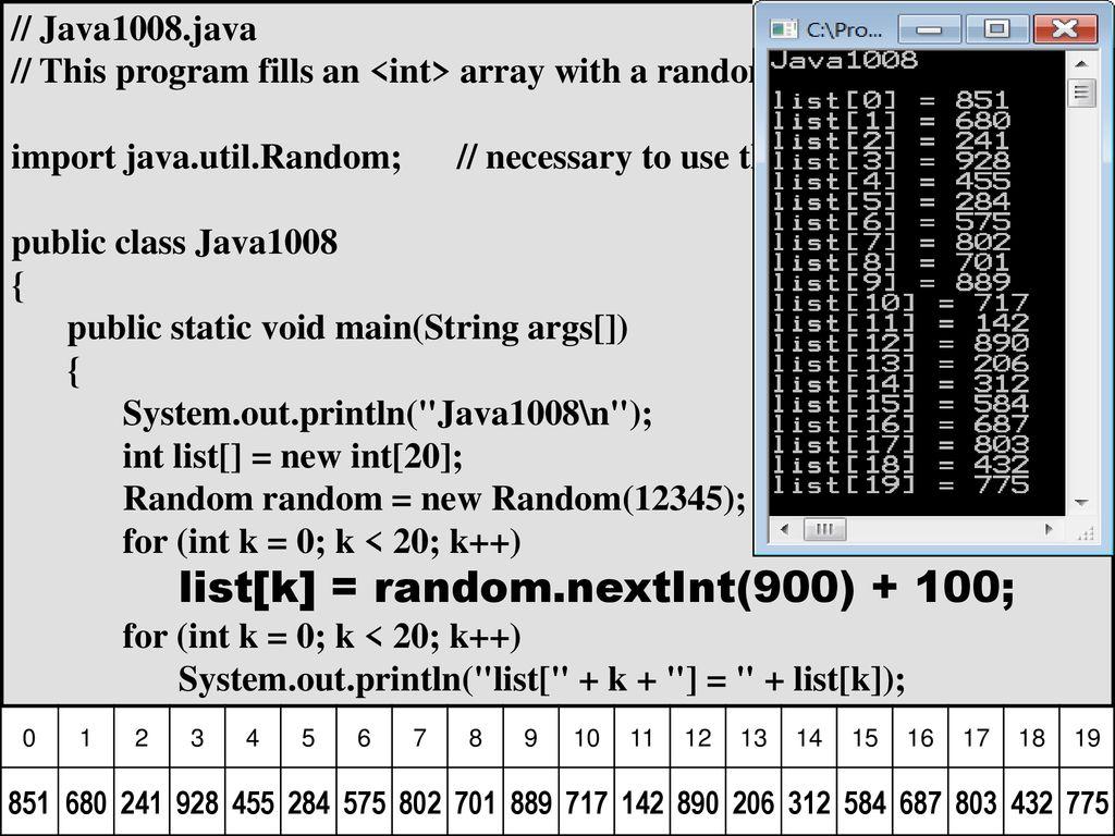 Chapter 10 Slides Java Static 1D & 2D Arrays  - ppt download