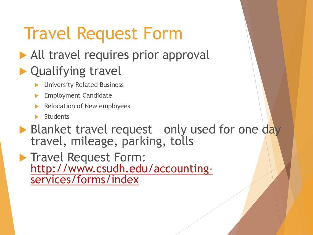 university travel information ppt download