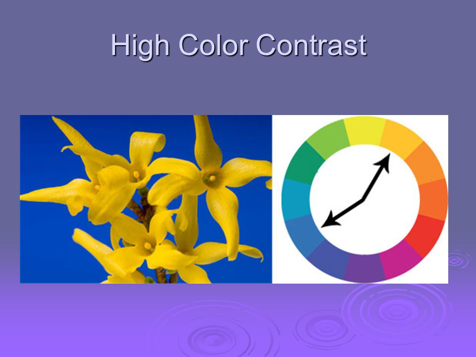High Color Contrast