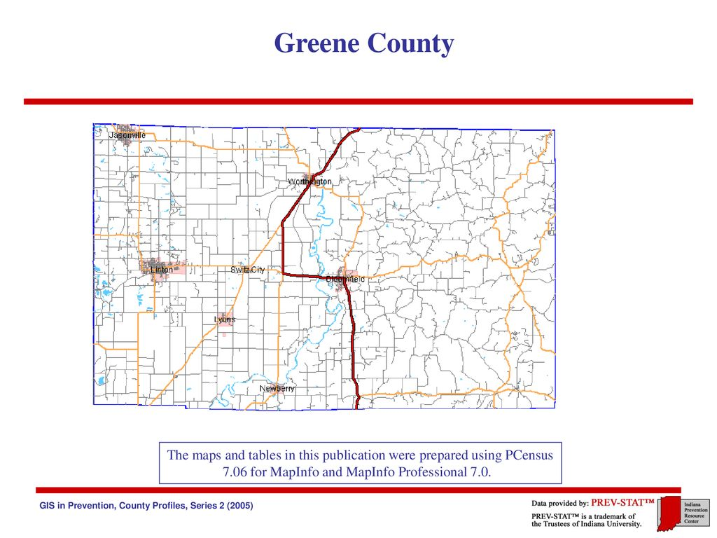 Greene County Indiana The Indiana Prevention Resource Center Ppt