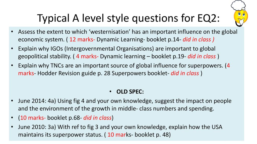 Superpowers Revision Summary - ppt download