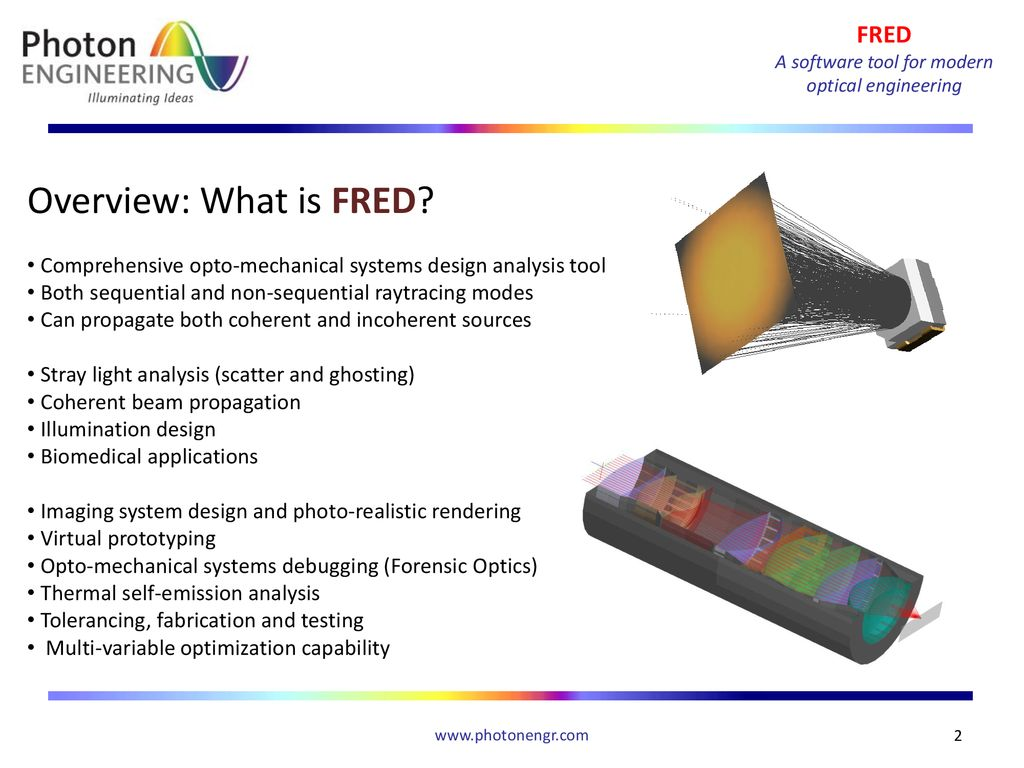 FRED A software tool for modern optical engineering - ppt