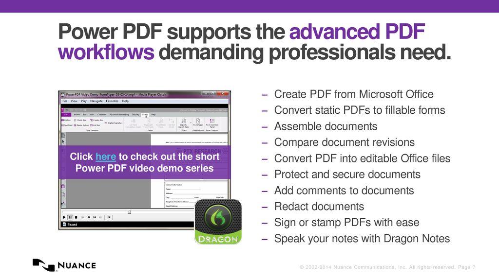 Nuance Power PDF for Enterprises - ppt download