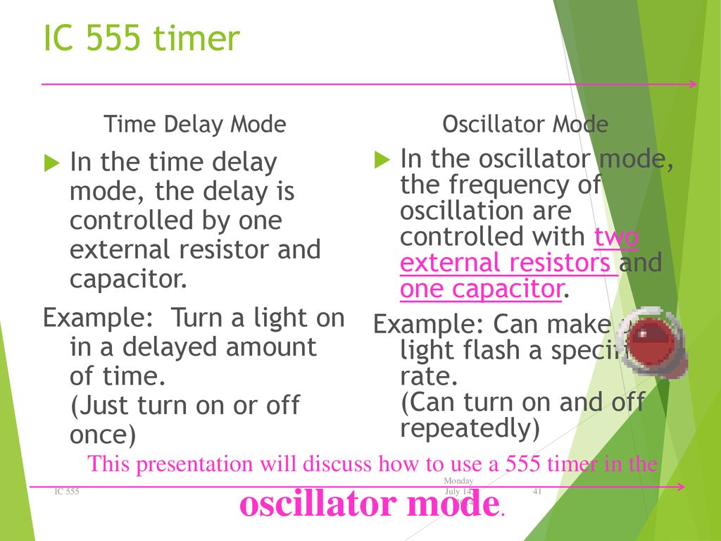 Electronic Education Kits Ppt Download 555 Timer Oscillator Ic Time Delay Mode In The