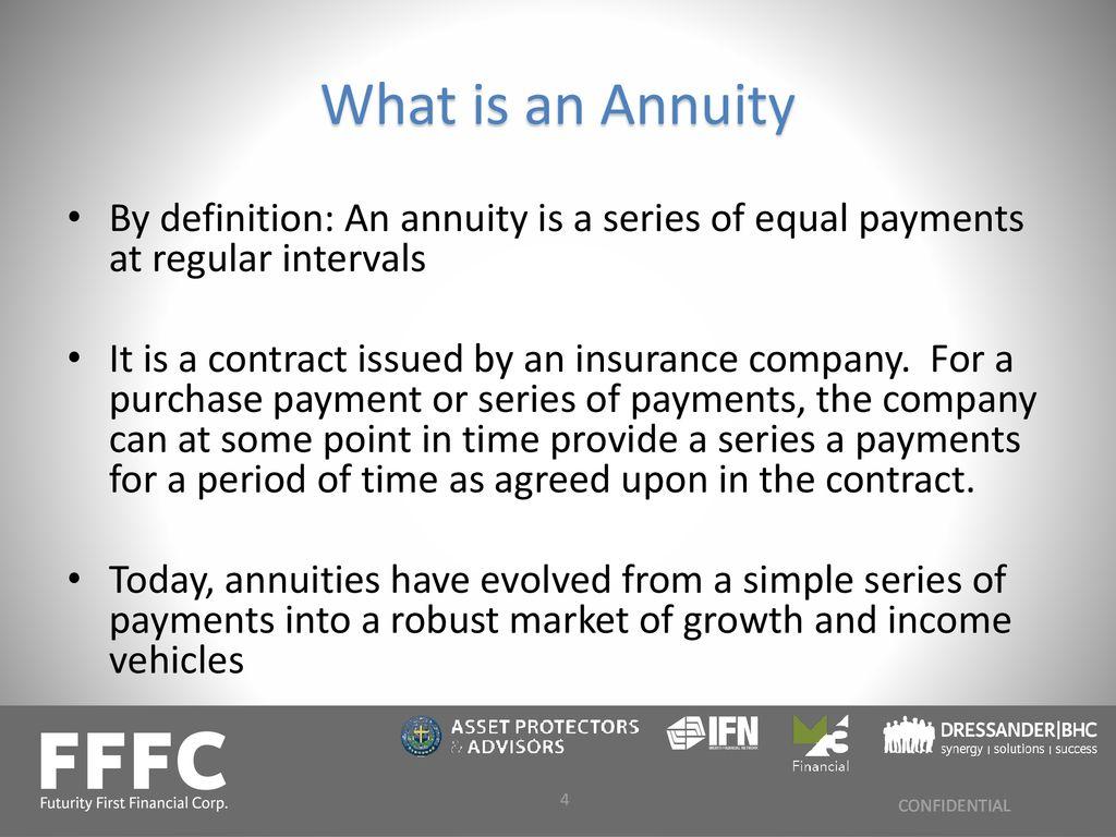 understanding annuities - ppt download