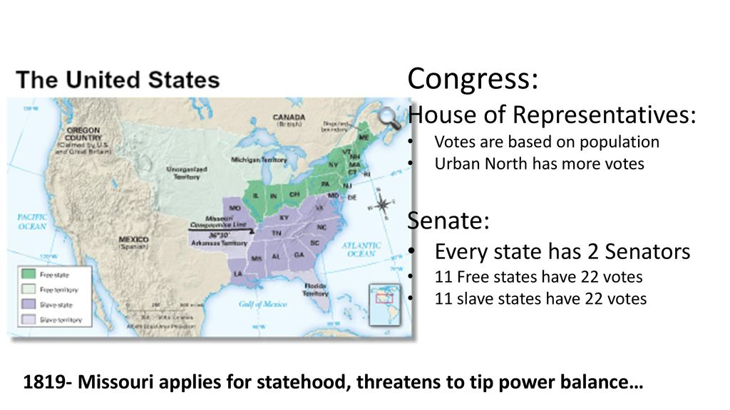 Balance of Power The divisions in the United States in the mid-1800s ...