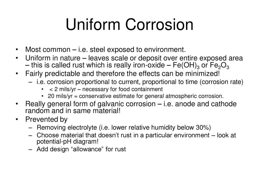Uniform Attack Corrosion Www Topsimages Com