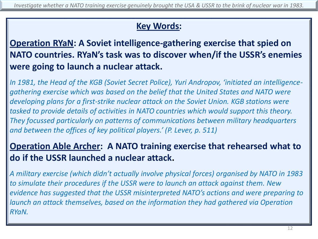able archer 83 the secret history of the nato exercise that almost triggered nuclear war