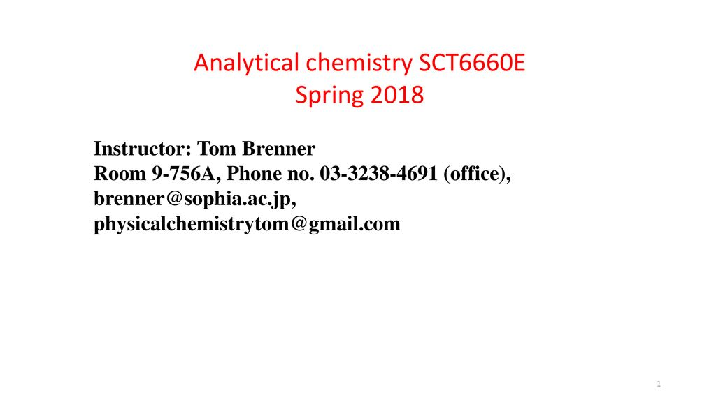 Analytical chemistry SCT6660E - ppt download