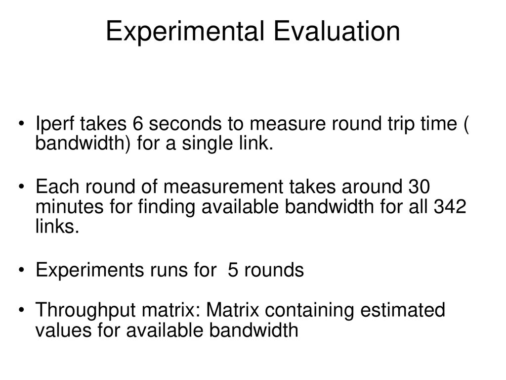 Bandwidth Measurements for VMs in Cloud - ppt download