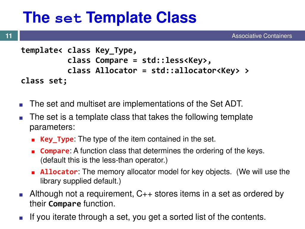 Chapter 9 – Sets and Maps 9 1 Associative Container - ppt download
