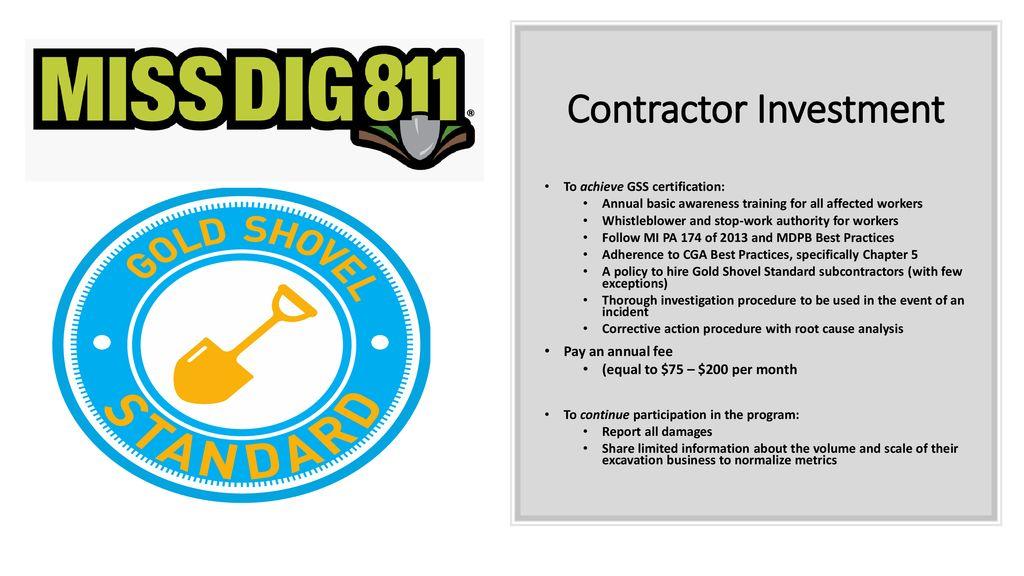 Miss Dig 811 Gold Shovel Standard Gss Ppt Download Miss dig 811 transforms customer service with cisco broadsoft customer journey platform solutions. miss dig 811 gold shovel standard gss