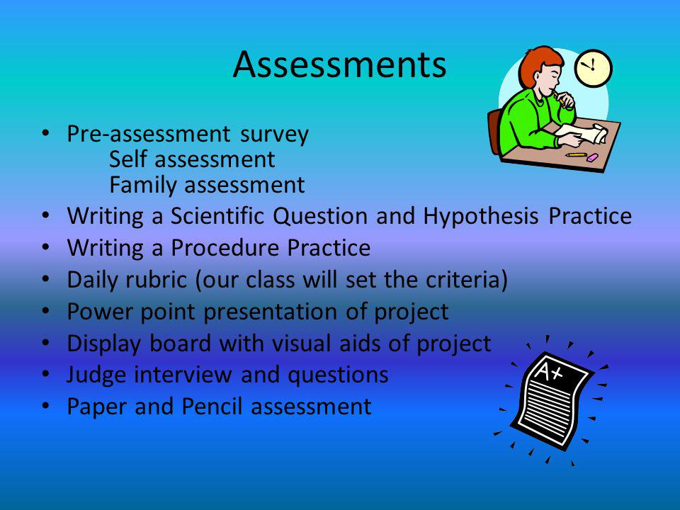 Assessment Photo Album Science Fair Project - ppt download