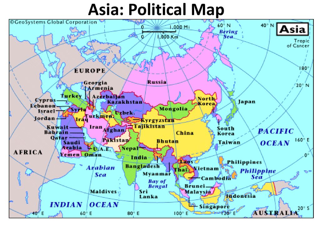 Asia: Political Map. Asia: Political Map. - ppt download