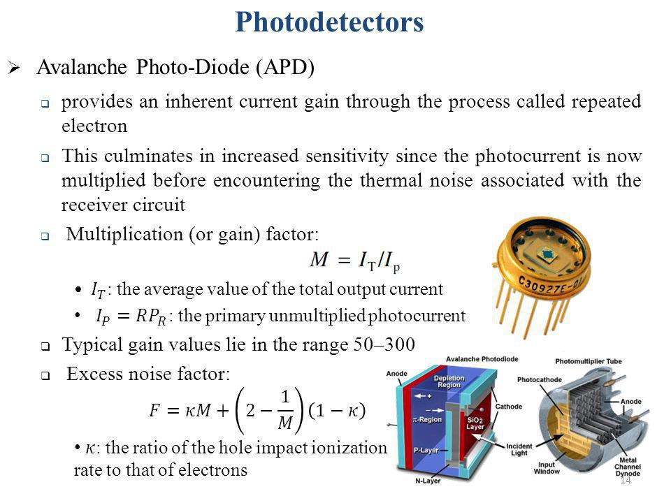 Photodetectors Avalanche Photo-Diode (APD)