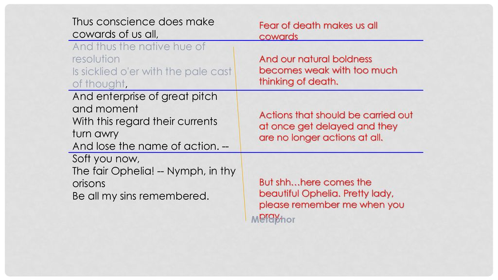 Act 3 Scene I Lesson 15 1 0 01 35 2 12 45 Ppt Download Paraphrase Thu Conscience Doe Make Coward Of U All