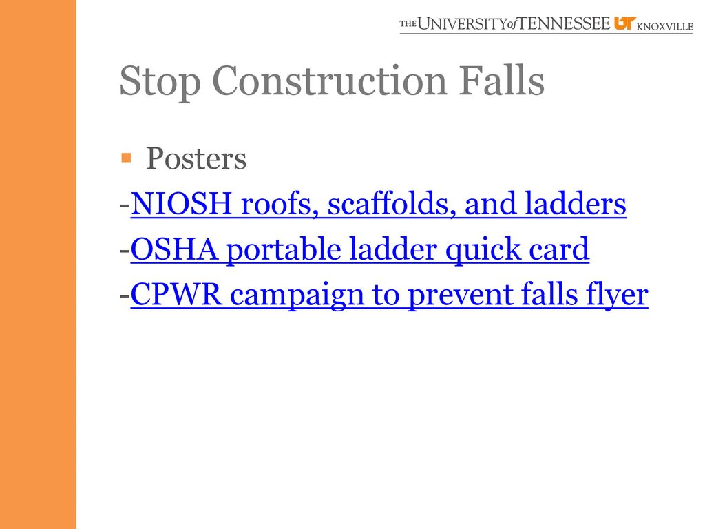 Stop Construction Falls A Safety Presentation - ppt download