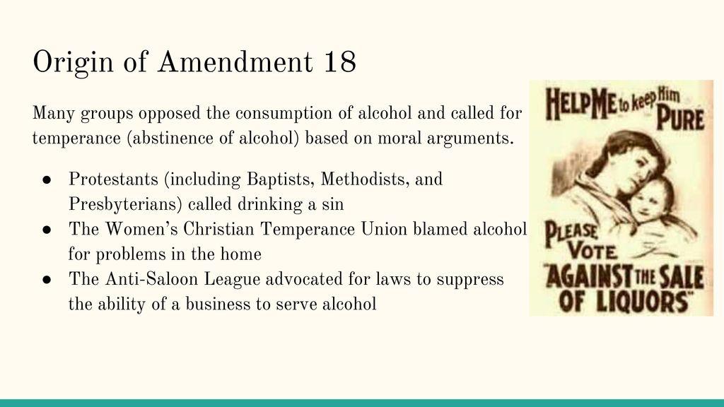 The Alcohol Amendments - ppt download