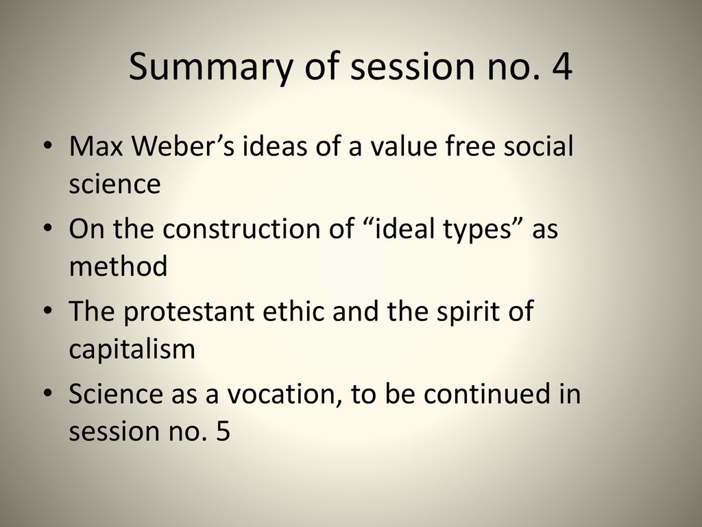 science as a vocation summary