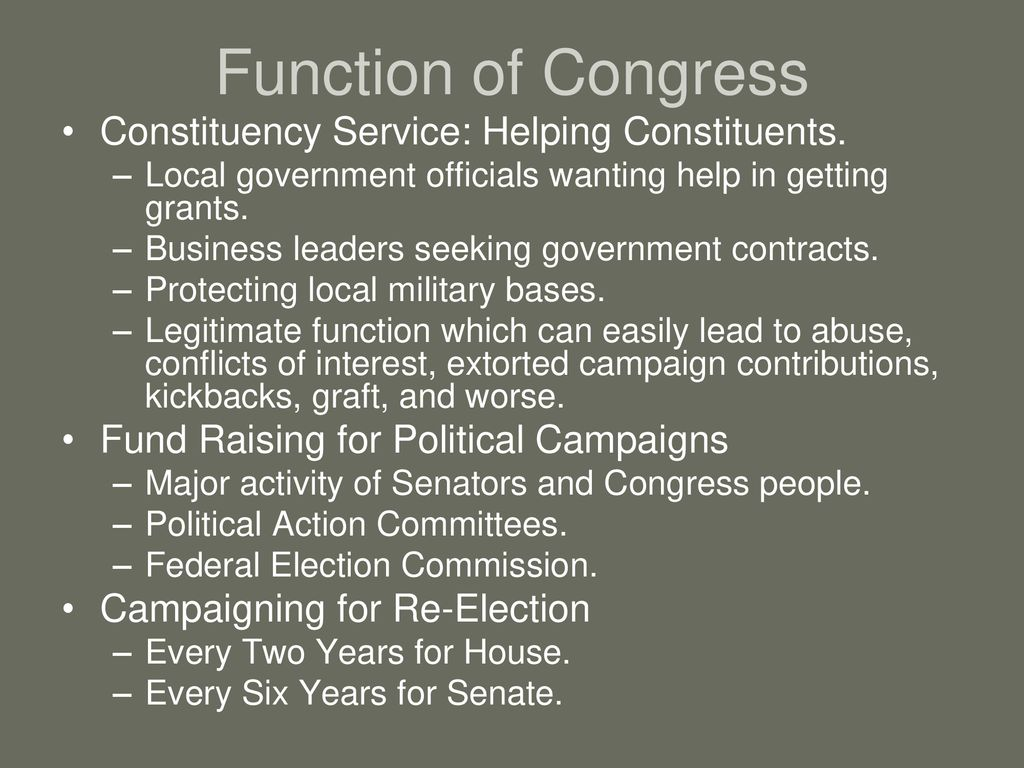 what is constituency service