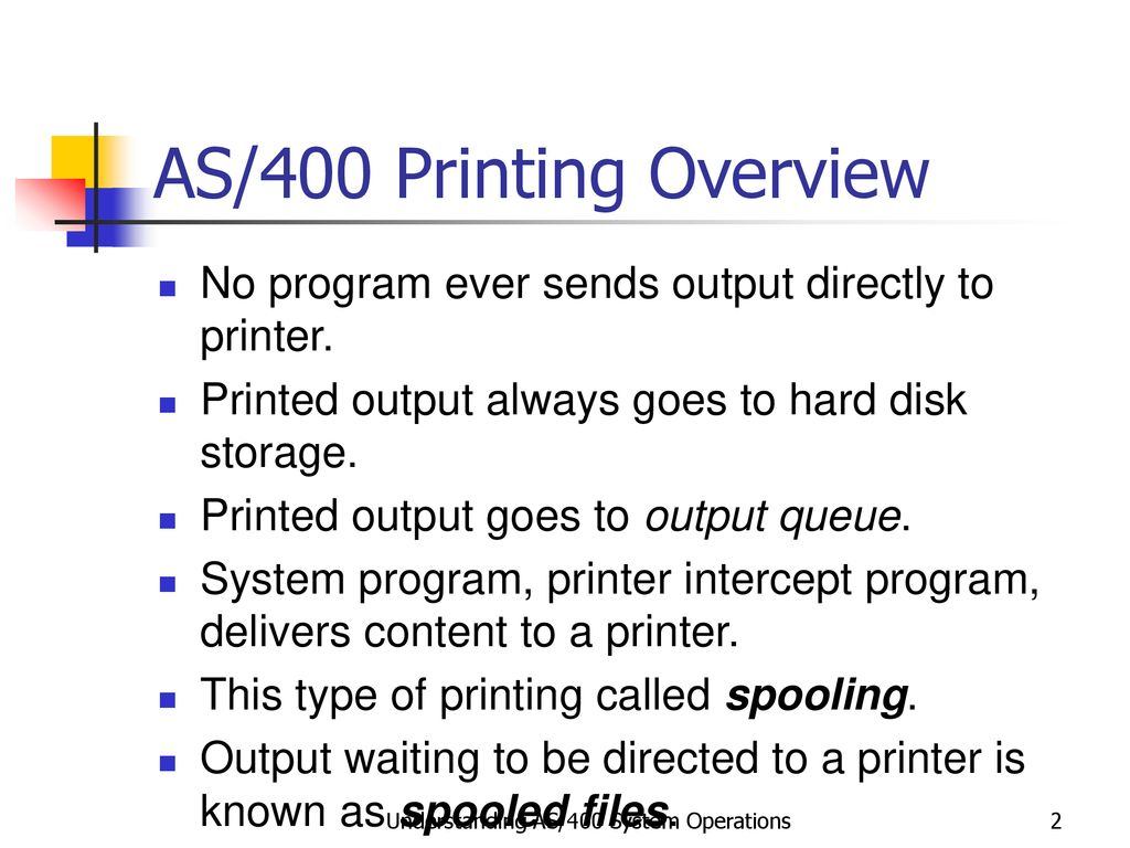 Handling Spooled Files and Printing Functions - ppt download