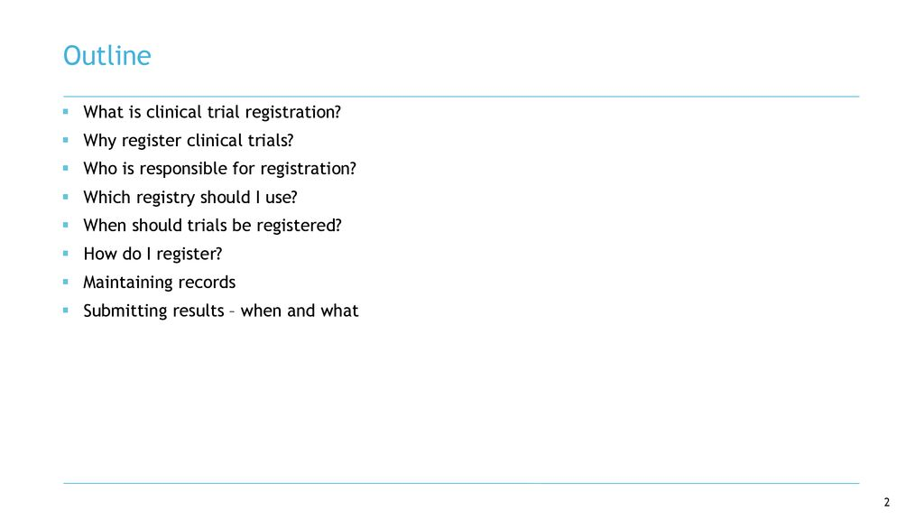 Clinical Trial Registration: Requirements and Responsibilities - ppt
