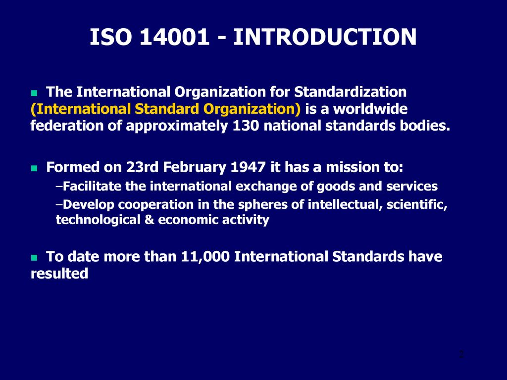 Iso Introduction The International Organization For