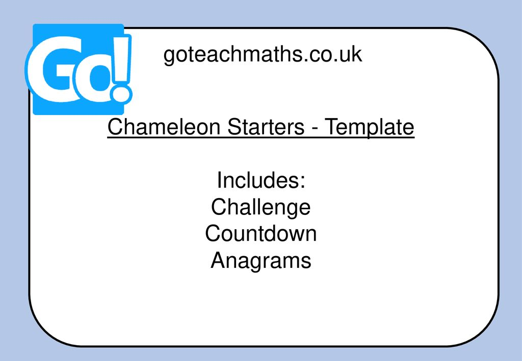 Chameleon Starters Template Ppt Download